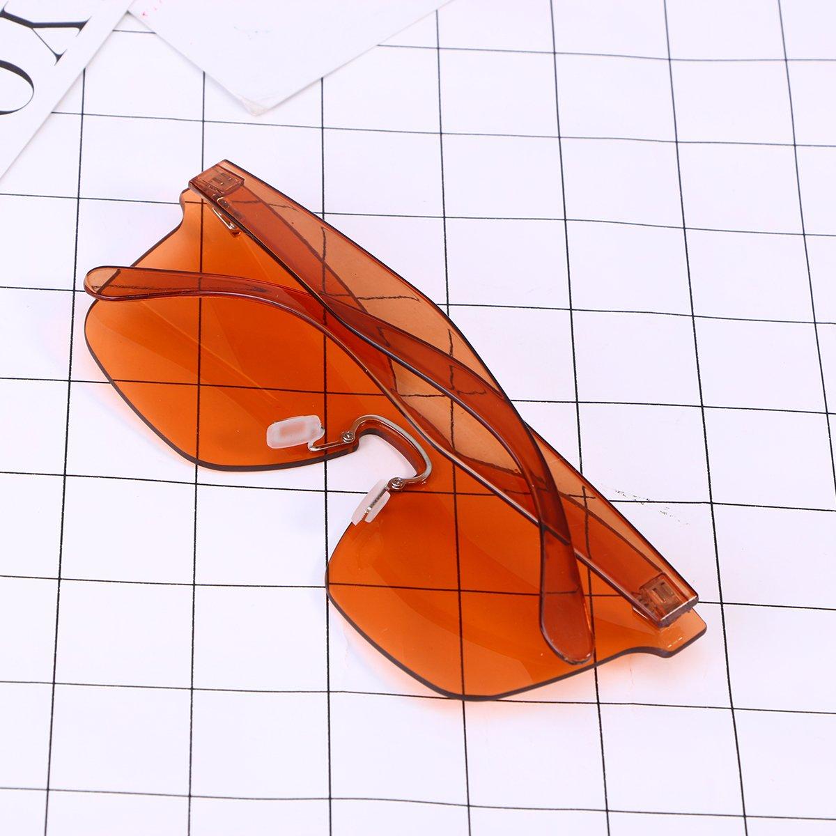 797af81f4498 OULII Rimless Sunglasses Novelty Pratical Beach Seaside Sunglass Mirror  Summer Eyewear for Men Women (Orange): Amazon.co.uk: Clothing