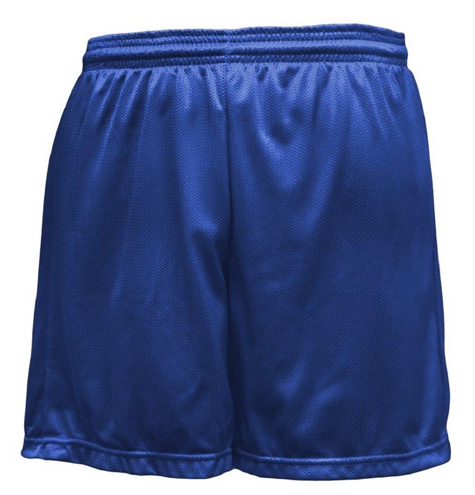 Soffe Youth Nylon Mini-Mesh Royal Fitness Short-LARGE