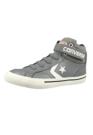 28cf97cdc4bc Converse Junior Pro Blaze Strap Hi Color Mason Storm Wind Egret (Grey)