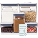 OXO Good Grips 8-Piece POP Container Baking Set with 5 Labels