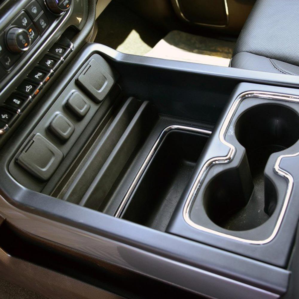 Autou Secret Compartment Center Console Organizer Tray for GMC Sierra GM  Chevy Silverado 2014 2015 2016 2017 2018