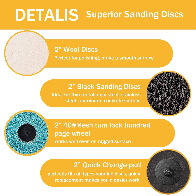 """Discs 205 3M 80 Grit  4/""""   Sanding Disc  w//  1//4/"""" center hole"""