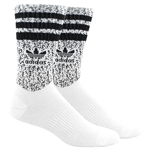 Adidas Originals Single Roller Prime Knit Men s Crew Socks White Black  ch7692 3754936db