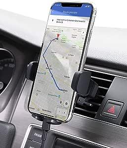AUKEY Soporte de teléfono móvil para Coche, Giratorio 360, Salida de Aire, Compatible con iPhone 11 Pro, XS MAX, XR, X, 8, Google Pixel 3 XL, Samsung Galaxy S9+ y Otros Smartphones