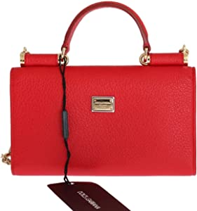 Purse VON Red Leather Crystal Carretto POM POM. Dolce   Gabbana - Purse VON  Red Leather Crystal Carretto ... 8005b643a31d9