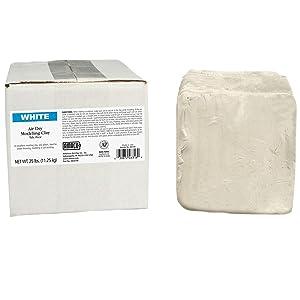 AMACO AMA46318R Air Dry Clay, White, 25 lbs.