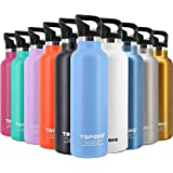 TOPOKO 25 Ounce Double Wall Stainless Steel Water Bottle Vacuum Insulation Bottle Leak Proof Bottle,BPA Free with Straw with