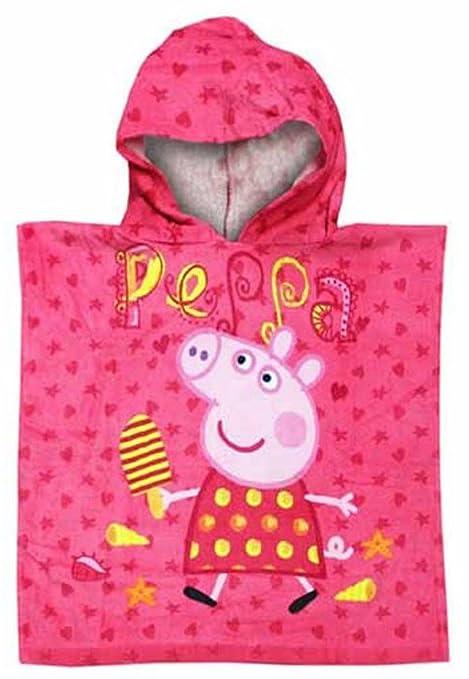 Peppa Pig Rosa Poncho toalla con capucha