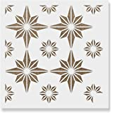 Plectro Tile Stencil - Reusable Floor Tile Stencils for Painting Custom Floors, Walls, Furniture and More!