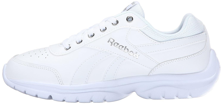 Reebok Women's Royal Lumina Pace Classic Shoe B00W2ZPL64 7.5 B(M) US|White/Silver Metallic