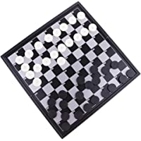 Segolike Magnetic Draughts Checkers Set in Folding Plastic Board Case Christmas Gift
