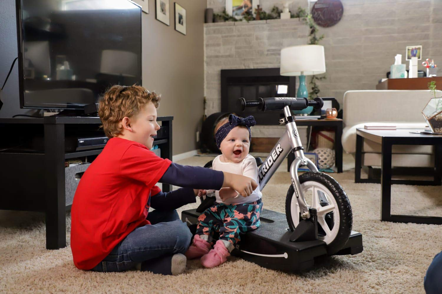 Strider - 12 Pro Baby Bundle with Balance Bike and Rocking Base, Ages 6 Months to 5 Years, Silver by Strider (Image #6)