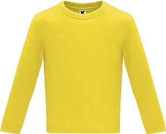 Camiseta de Colores con Manga Larga para Bebés - Prenda de algodón 100%, cómoda, Suave, cálida y Tacto Agradable