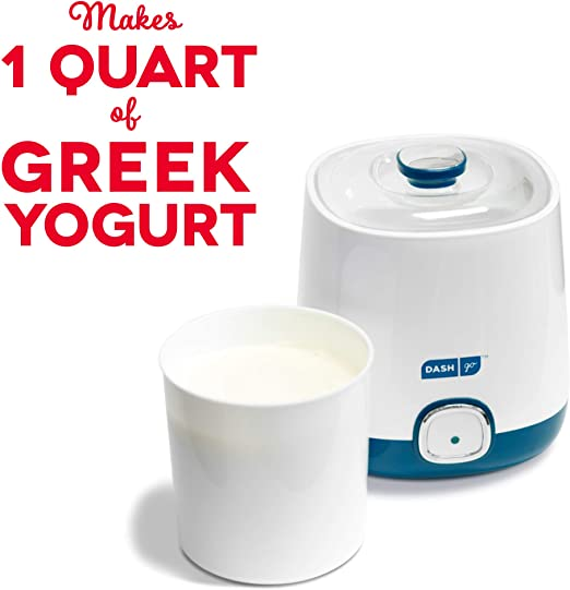 or Sugar Free Options for Baby 1 Quart Renewed Flavored BPA-Free Storage Container /& Lid: Perfect for Organic Kids Plain Dash Bulk Yogurt Maker Machine with One Touch Display Sweetened /& Parfaits