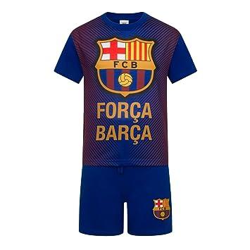 00d0396d75f FC Barcelona Official Football Boys Sublimation Short Pyjamas Blue 2-3 Years