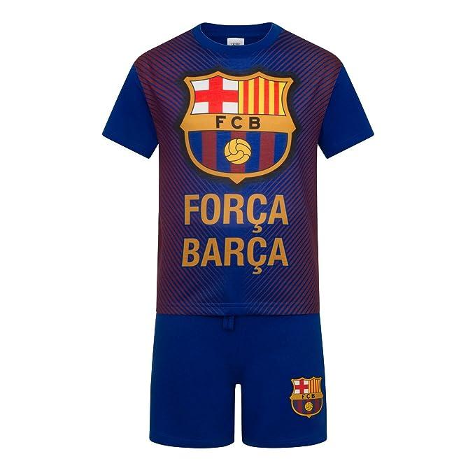 FC Barcelona - Pijama corto para niño - Producto oficial  Amazon.es  Ropa y  accesorios cc7d2645282