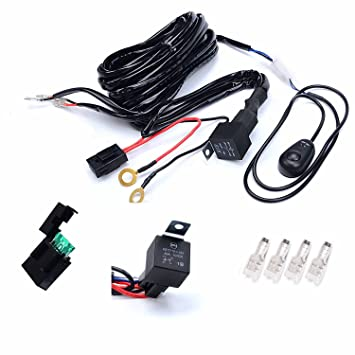 amazon com kawell universal 2 lead off road atv jeep led light kawell universal 2 lead off road atv jeep led light bar wiring harness kit 40