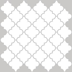 In Home NH2360 Quatrefoil Peel & Stick Backsplash Tiles, White & Off-White