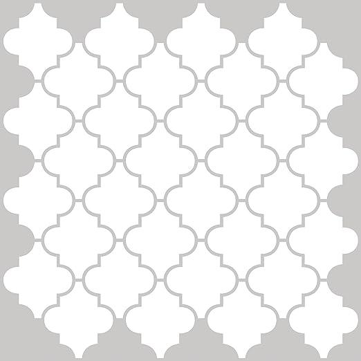 in home nh2360 quatrefoil peel stick backsplash tiles white off white