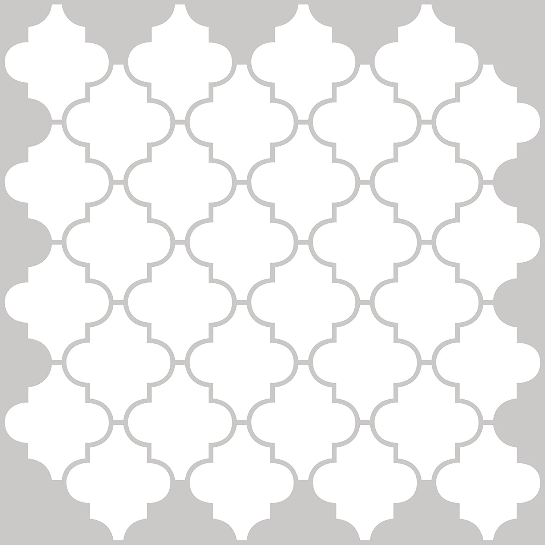 In Home NH2360 Quatrefoil Peel /& Stick Backsplash Tiles White /& Off-White InHome