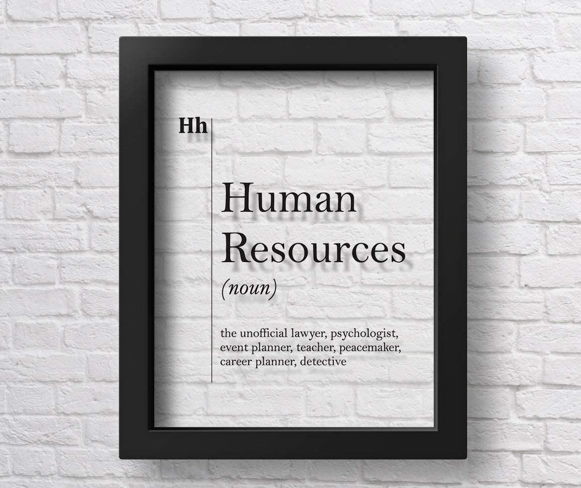 Marchak Transparent Human Resources Definition Print HR Office Decor Recruiter Coworker New Job Gift