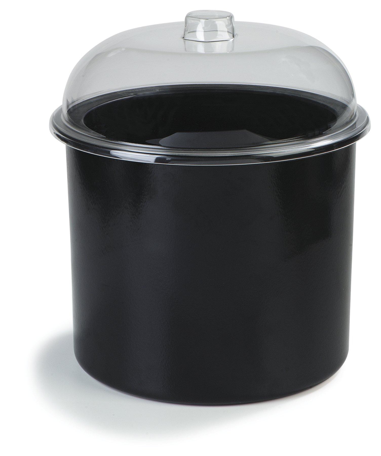Carlisle CM101203 Coldmaster Insulated Ice Cream Server with Lid, 3 Gallon Capacity, Black