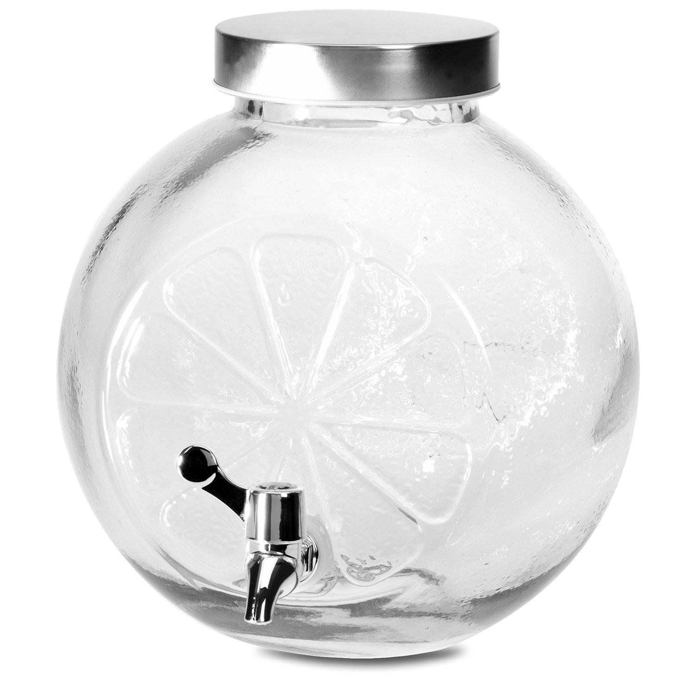 Drinks Orb Beverage Dispenser 5Litres 23X17XH24CM with Spigot Dispenser Water Dispenser Glass Jug Multistore 2002