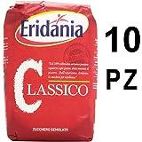 Eridania zucchero classico 10 sacchetti da 1 chilogrammo ciascuno semolato bianco (1000045921)