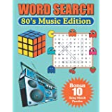 Word Search 80's Music Edition: Large Print Word Find Puzzles