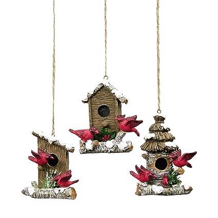 GALLERIE II Cardinal Birdhouse Christmas Ornament, Assorted 3 - Amazon.com: GALLERIE II Cardinal Birdhouse Christmas Ornament