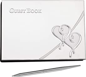 Lenox True Love Guestbook With Pen Silverplate