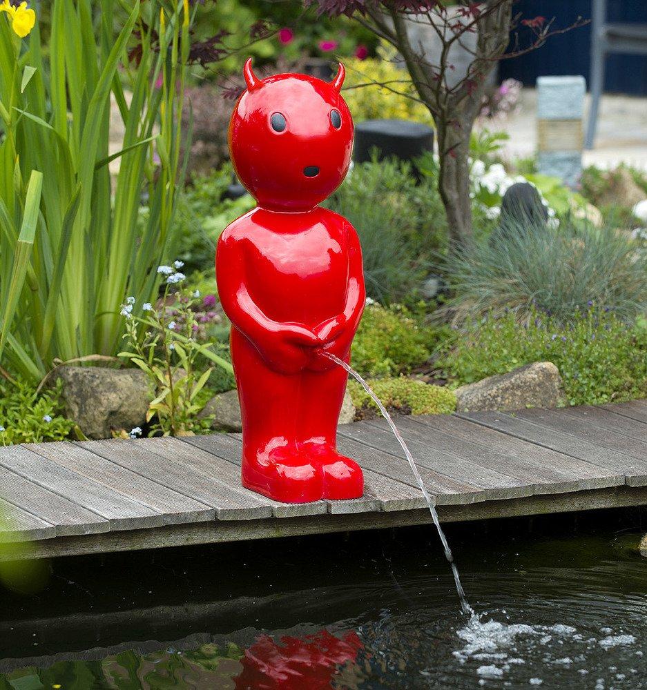 Ubbink BOY TEUFEL Wasserspeier Teichfigur Rot 67cm