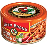 Ayam Brand Tomato Chilli | Wild Caught Premium Tuna | Spicy & Sweet | Protein, Omega 3, Vitamin E, B6 & B12 | Halal & Healthier Choice | No Preservatives or Additives | Serves 2 - 160g