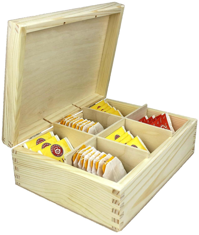 Scatola in legno Tea NET4CLIENT ® di buona qualità puro legno tè, caffè, zucchero è una delle piccole scatole ideale per Fast Tea Cup