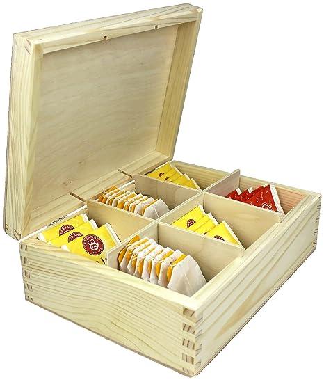 Caja de madera té botes por net4client ® Buena calidad pura madera tarros para té,