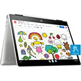 HP Chromebook 12b-ca0006TU x360 Thin and Light Touchscreen 12-inch Laptop (4GB/64GB eMMC SSD + 100GB Cloud Storage/Chrome OS/Intel UHD Graphics), Natural Silver