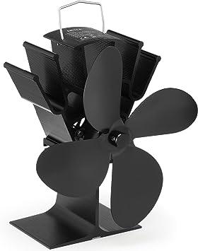 NETTA Ventilador de 4 aspas para estufa de leña o chimenea - Respetuoso con el medio ambiente: Amazon.es: Bricolaje y herramientas