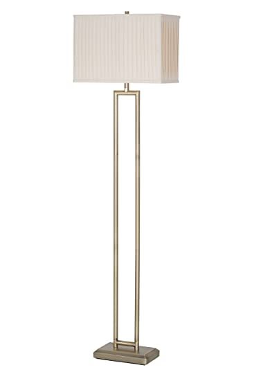 Catalina lighting maya 63 brass metal rectangular floor lamp with catalina lighting maya 63quot brass metal rectangular floor lamp with cream linen shade 3 aloadofball Gallery