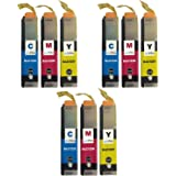 3 Compatible C/M/Y Brother LC123 Colour Set of Printer Ink Cartridges (9 Inks) - Cyan / Magenta / Yellow for Brother DCP-J132W, DCP-J152W, DCP-J4110DW, DCP-J552DW, DCP-J752DW, MFC-J4410DW, MFC-J4510DW, MFC-J4610DW, MFC-J470DW, MFC-J4710DW, MFC-J650DW, MFC-J6520DW, MFC-J6720DW, MFC-J6920DW, MFC-J870DW