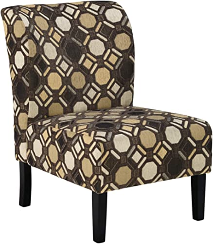 Signature Design by Ashley – Tibbee Modern Geometric Design Accent Chair, Brown
