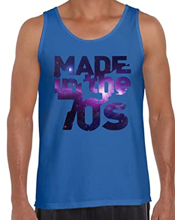c4e6f65636b15a Awkward Styles Men s Made in The 70 s Tank Tops Galaxy Gift for Birthday ...