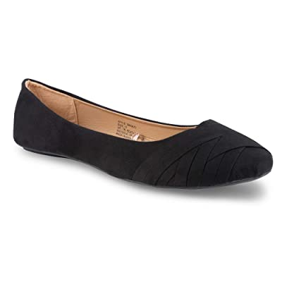 Twisted Womens Faux Suede Ballet Flats | Flats