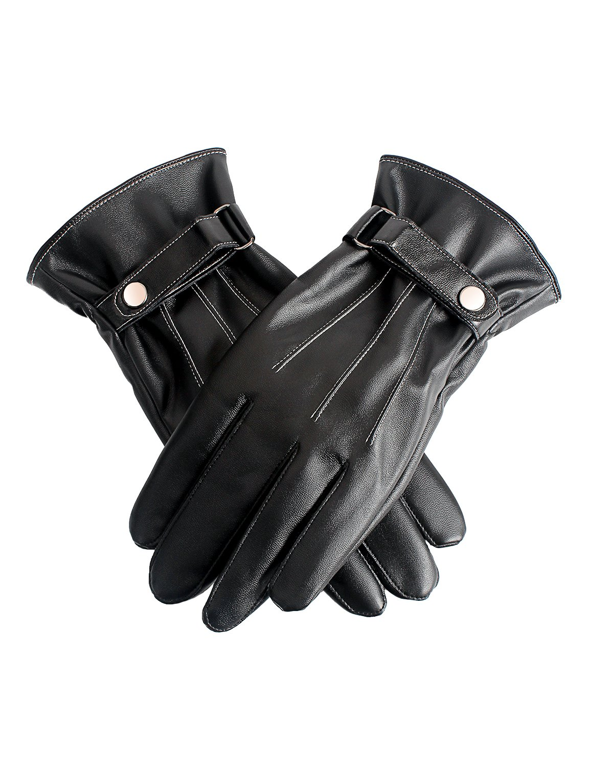Demon& Hunter Basic Series Men's Screen Touch Lined Warm Leather Gloves DZA5392B