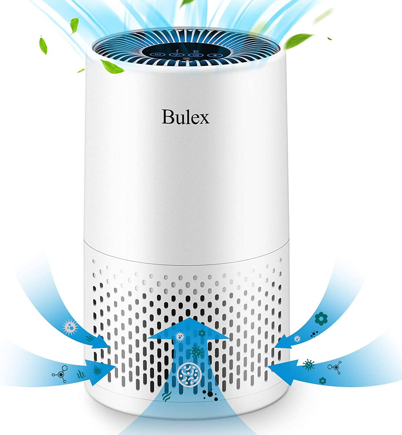 Bulex HEPA Air Purifier Air Purifier with True HEPA Filter,99.97% Purification 4-Stage Filtration & Timing Function & Sleep Mode & Night Light, Remove Smoke Dust Mold Pollen, for Home Bedroom Office