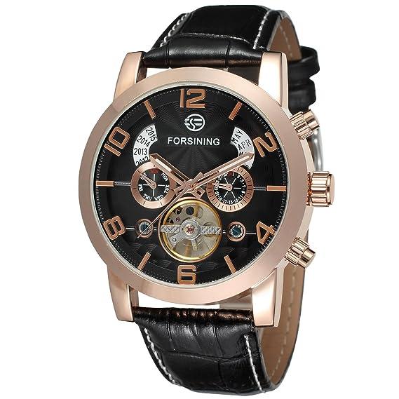 Forsining Tourbillon reloj automático hombre FSG165 M3G2: Amazon.es: Relojes