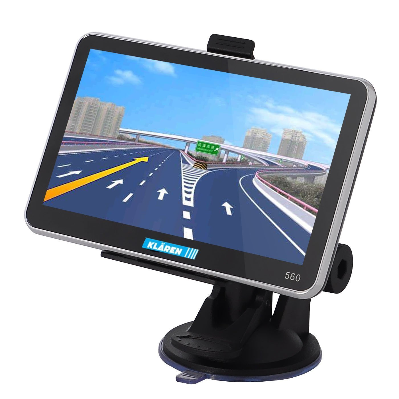 KLAREN 5'' Car GPS Navigation Touch Screen FM MP3 MP4 4GB New Map WinCE6.0