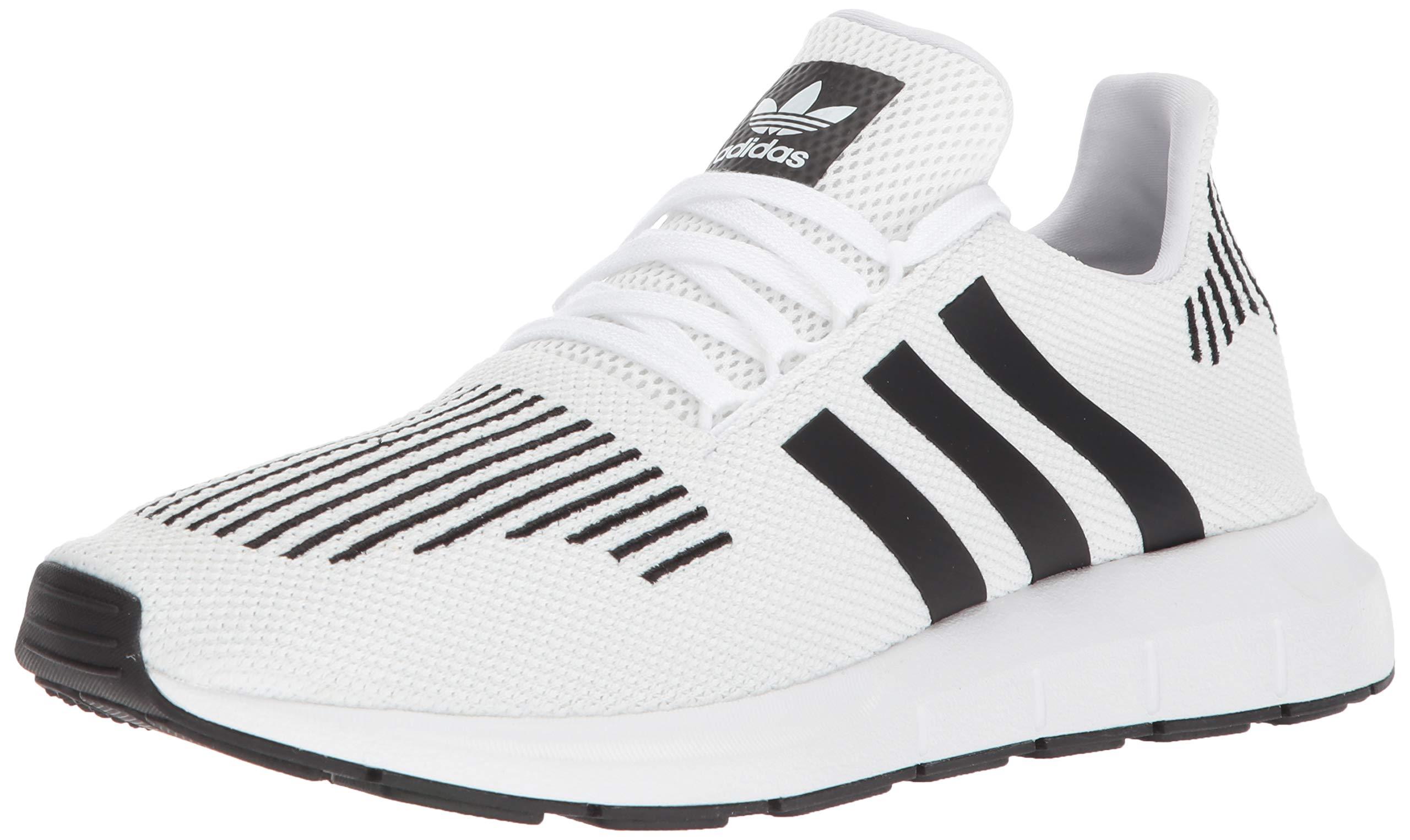 adidas Originals Men's SWIFT RUN Shoes,white/core black/medium grey heather,10 Medium US