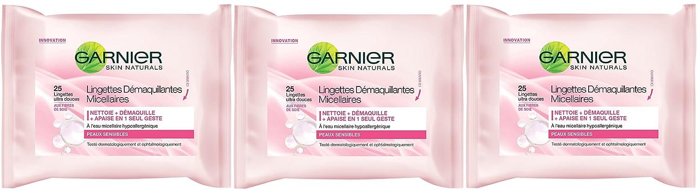 Garnier - Limpiadores - Toallitas micelares - aseo Expertise Cara - juego de 3: Amazon.es: Salud y cuidado personal