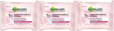 Garnier - Limpiadores - Toallitas micelares - aseo Expertise Cara - juego de 3