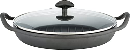 Sabatier Pre-Seasoned Rust Resistant Cast Iron Grill Pan